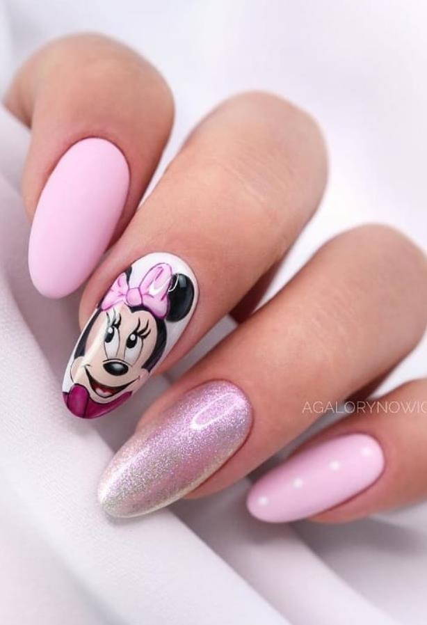 58 Beautiful Pink Almond Nails Art Designs For Spring And Summer In 2020