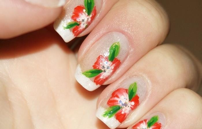55 Flower Short Nails Ideas,Manicure Also Want To Give The Pace Of Summer