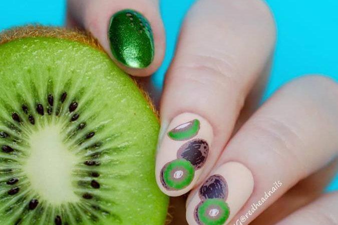 In Summer, Put On Fresh Fruit Short Nails Art Ideas