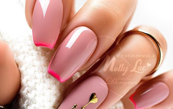 Sweet To The Heart! Gentle French Nail Design For The Spring Of 2021~