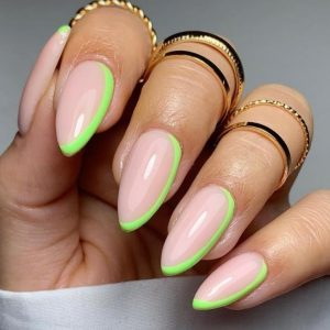 Fresh and Clean March Green  Acrylic Nail Ideas, Can Always Give People a Sense of Healing