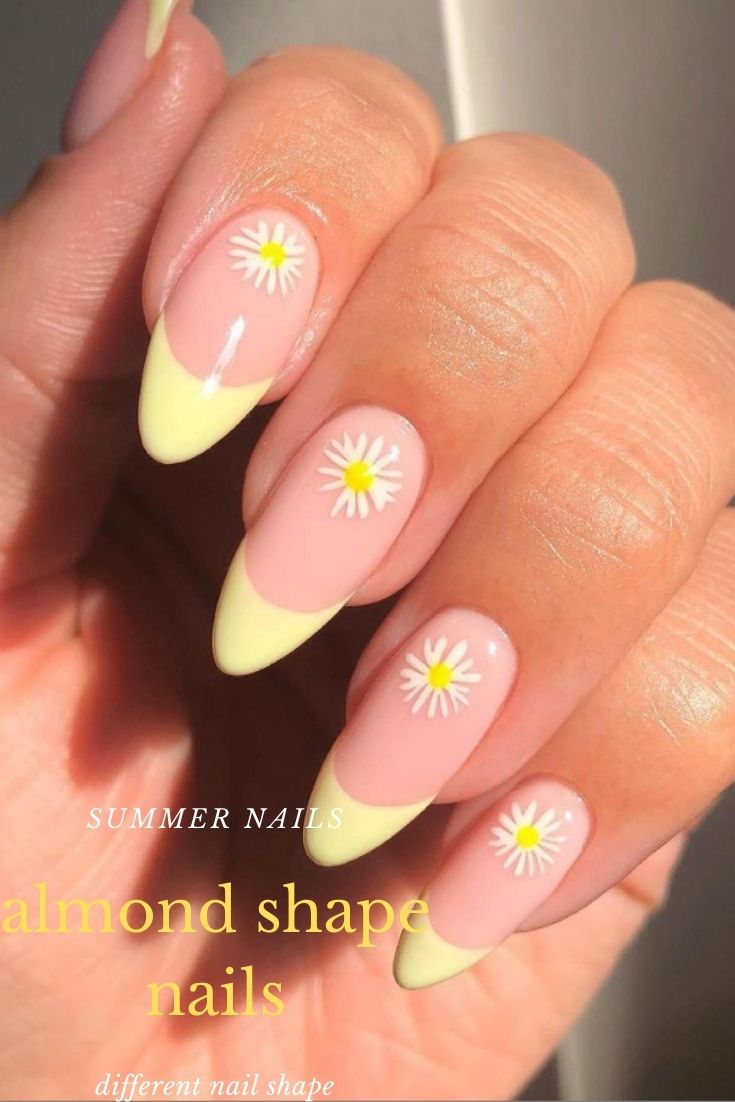 46 Amazing Almond Shaped Nails Design Ideas for Summer 2021