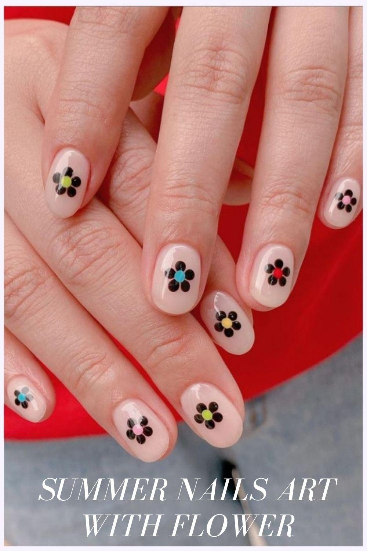 Easy Flower Nail Design