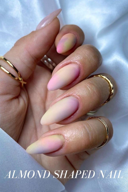 Long almond nails art
