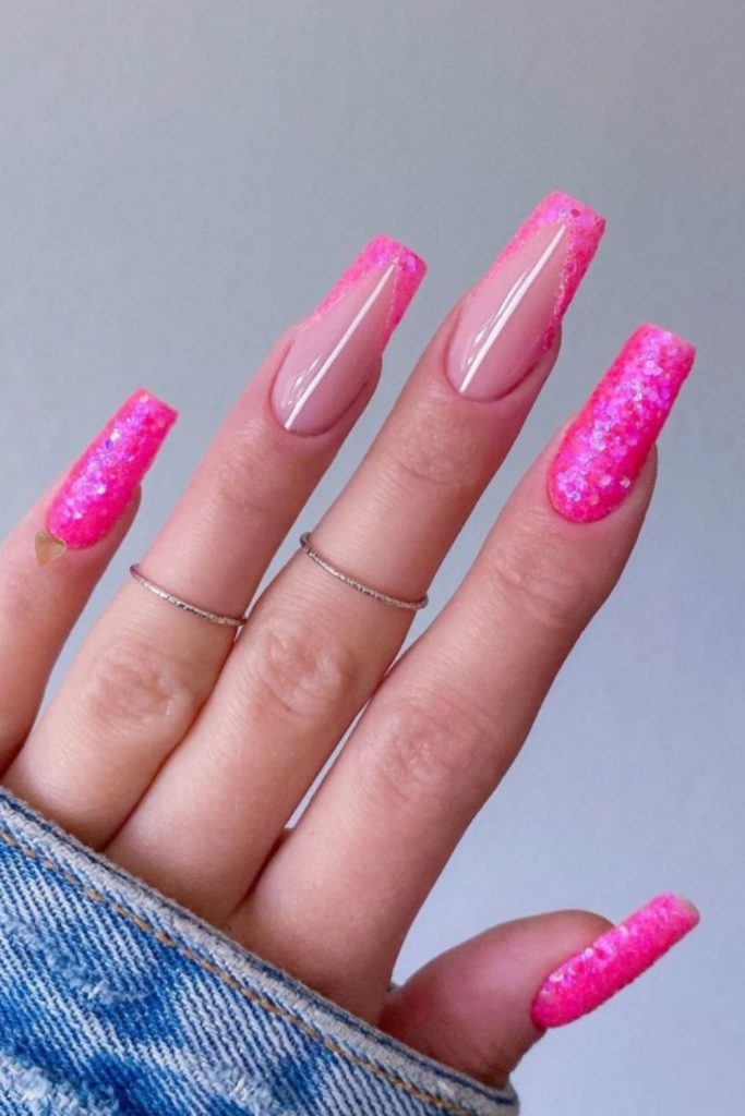 Beautiful and Cute Prom Nails