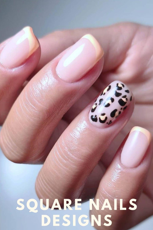Leopard square nail ideas