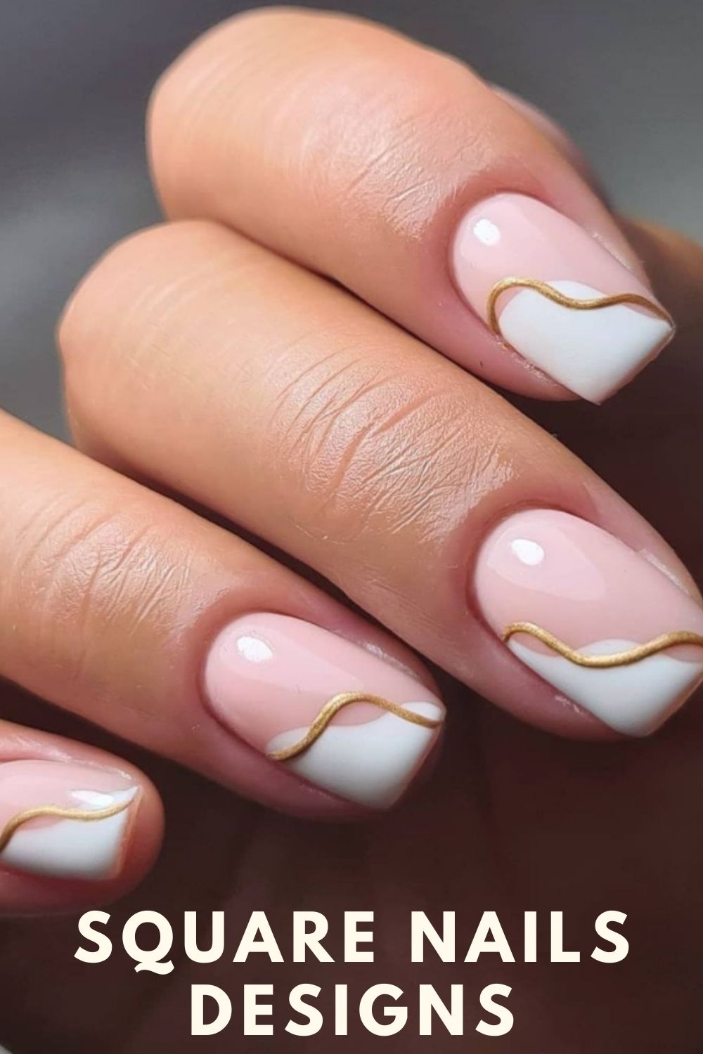 White and gold nail