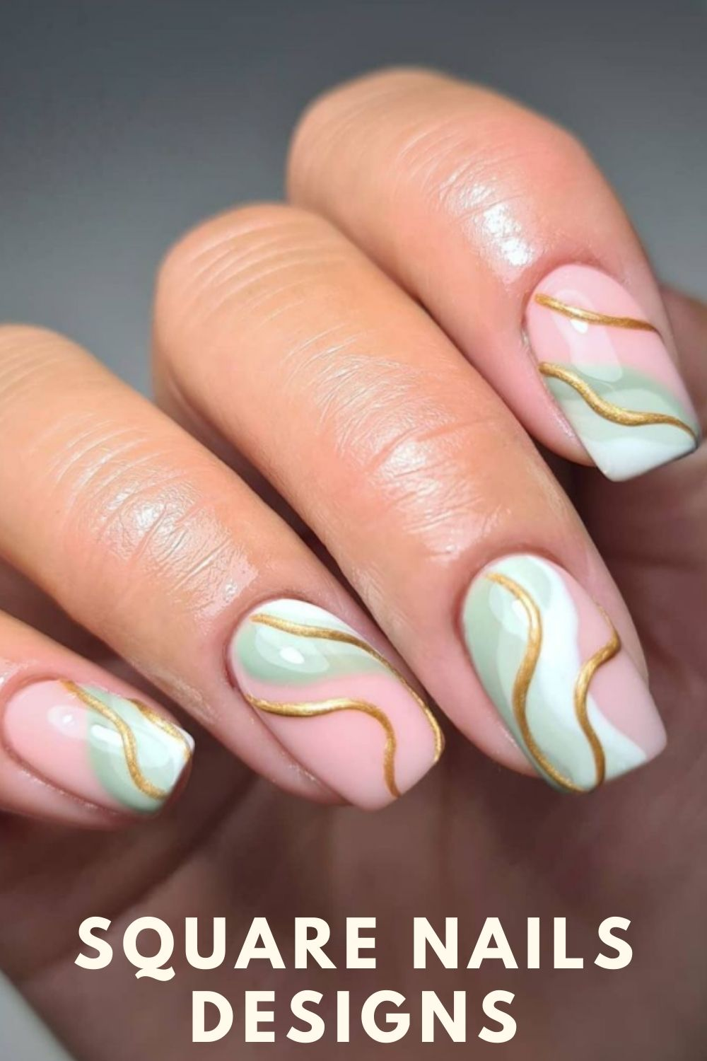 32 Simple Summer Square Acrylic Nails Designs in 2021