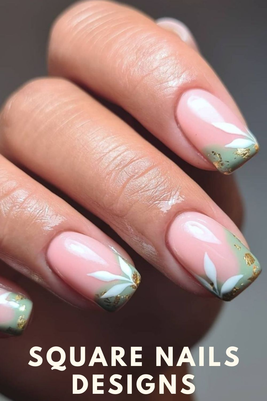 Green tip nails