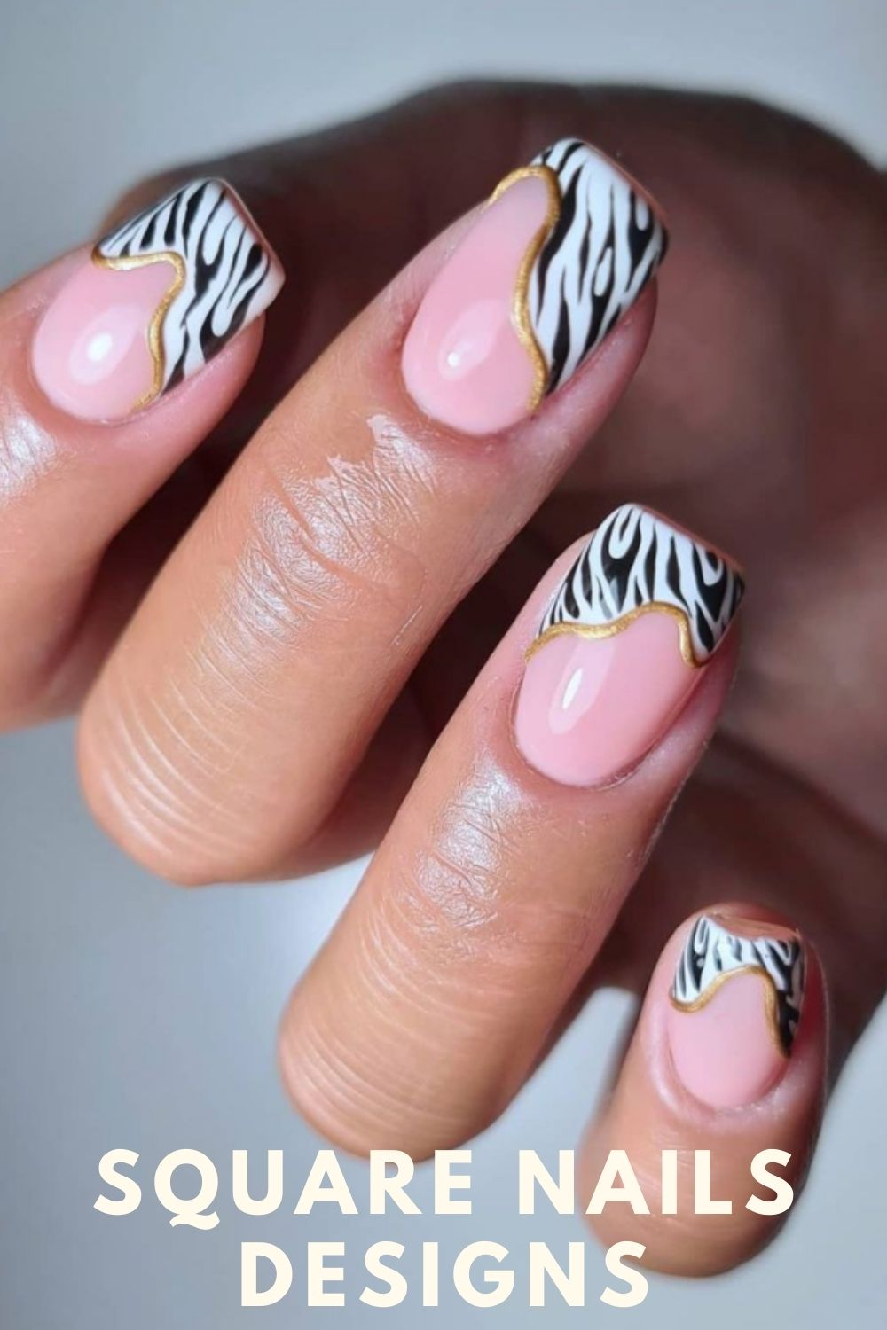 Hot pink and white ombre nails