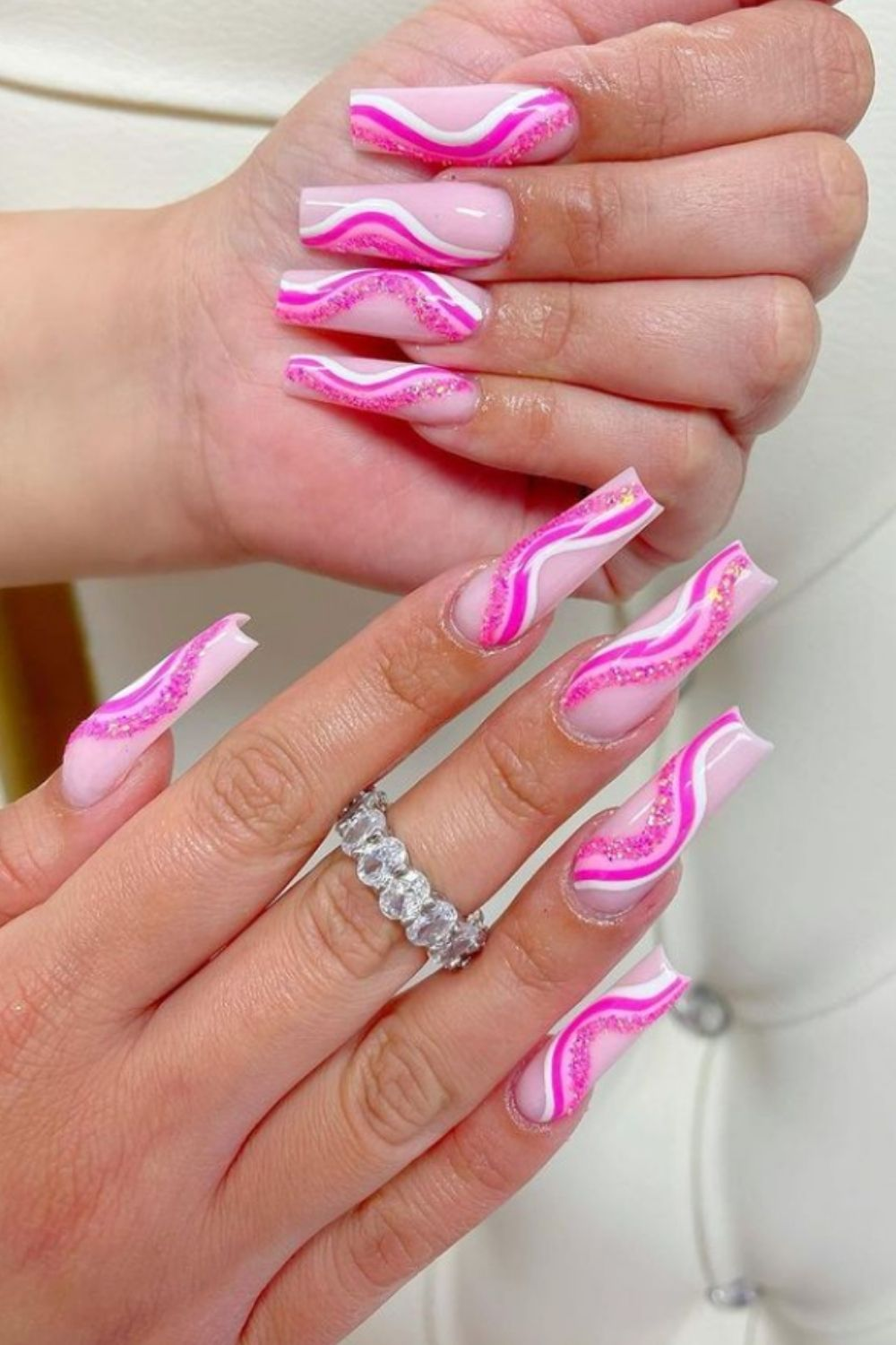 47 Perfect Coffin Acrylic Nails Design in Summer Nail Art 2021