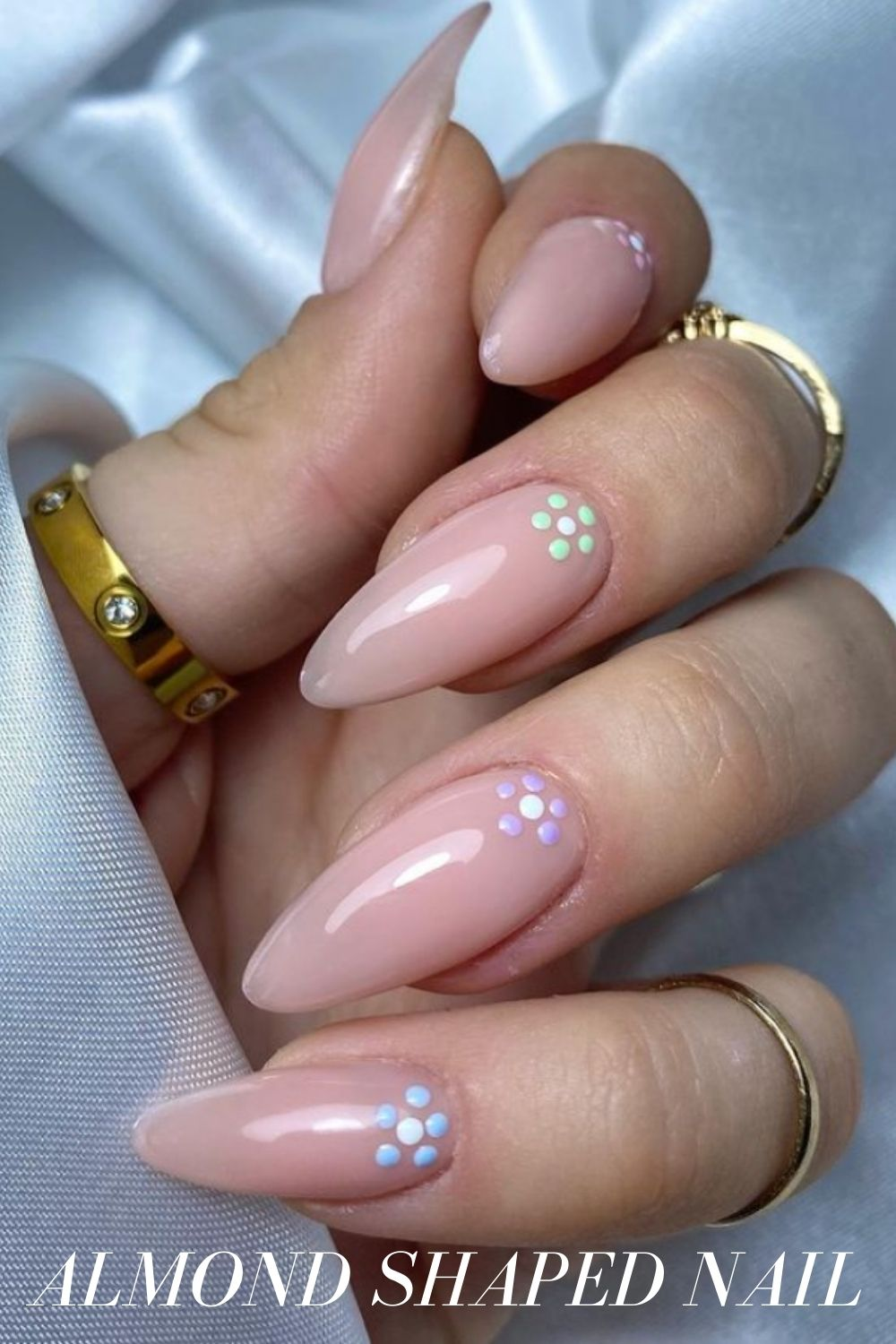 Nature Inspired Almond Nails