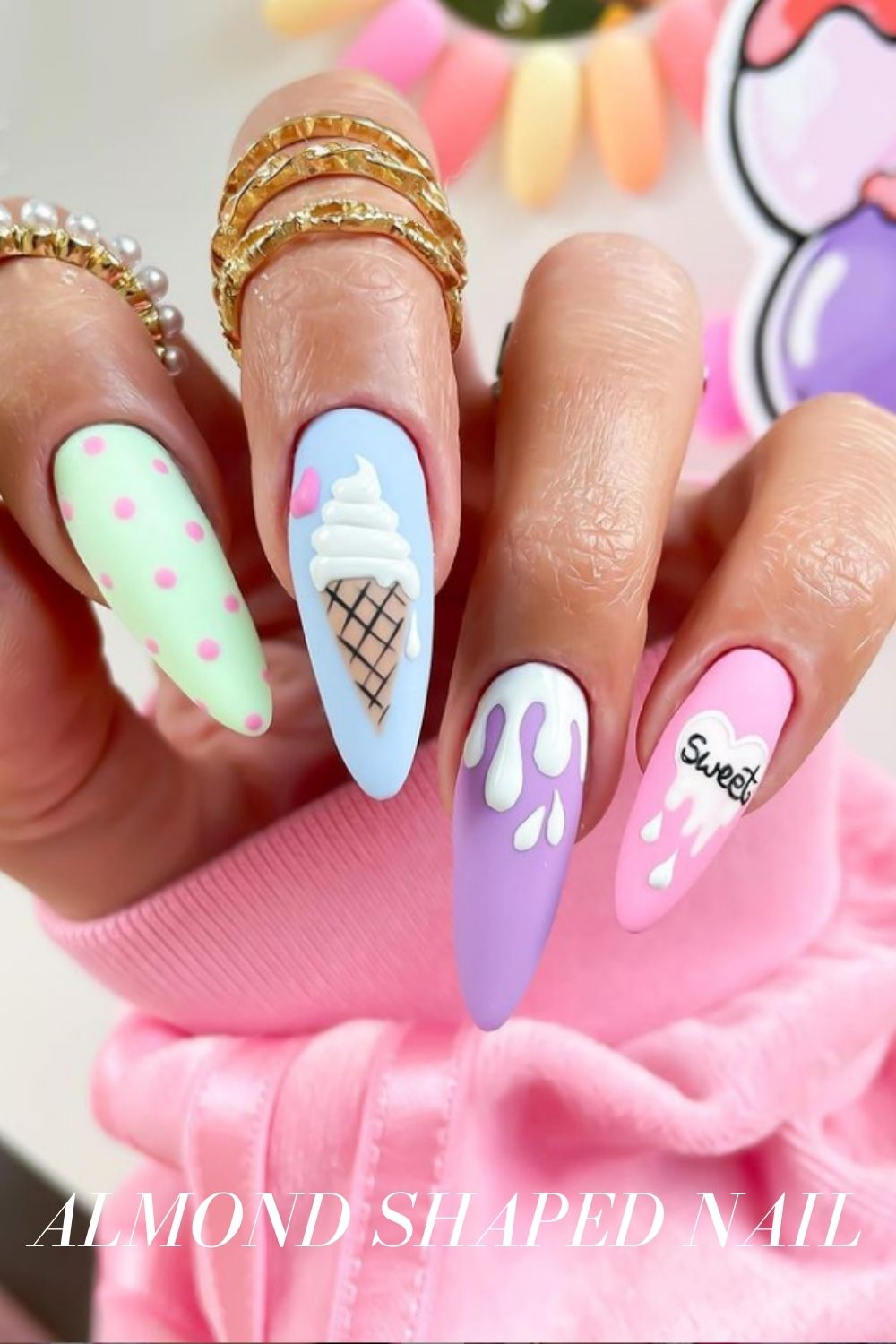 Almond Nail Design is a Consideration for your Next Nail Shape
