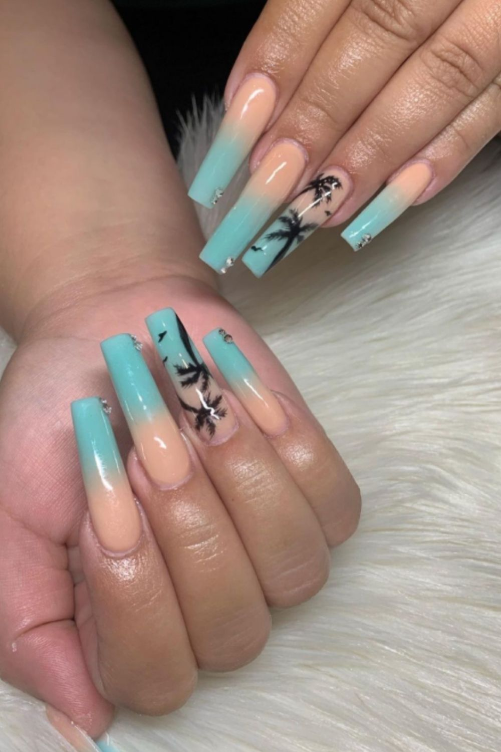 33 Simple Beach Nails Designs for Summer nails 2021