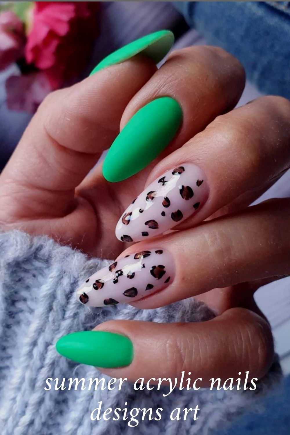 40 Simple Summer Acrylic Nails for Different Nail Shapes Designs