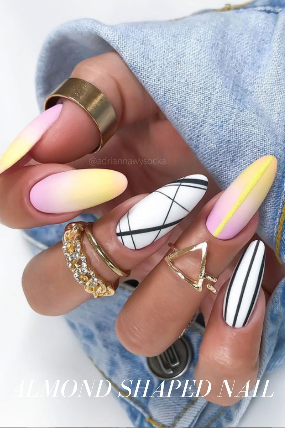 Marble has been one of the major nail trends for apparent reasons. It makes your fingers look stylish, understated, and artsy -- and popular in photos, too. You can try a marble pattern on one or two fingers, as the design will go well with many different colors. Get a marble manicure if you have the guts!