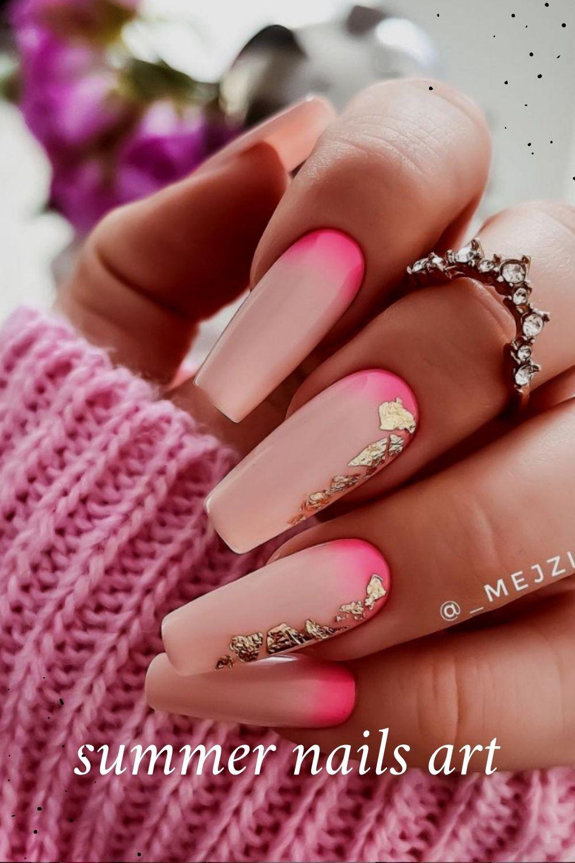 Ballerina nail shape for summer nails art