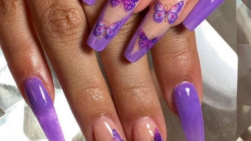 Acrylic Nails Summer 2021: Butterfly Nail Art is the Trend of the Year