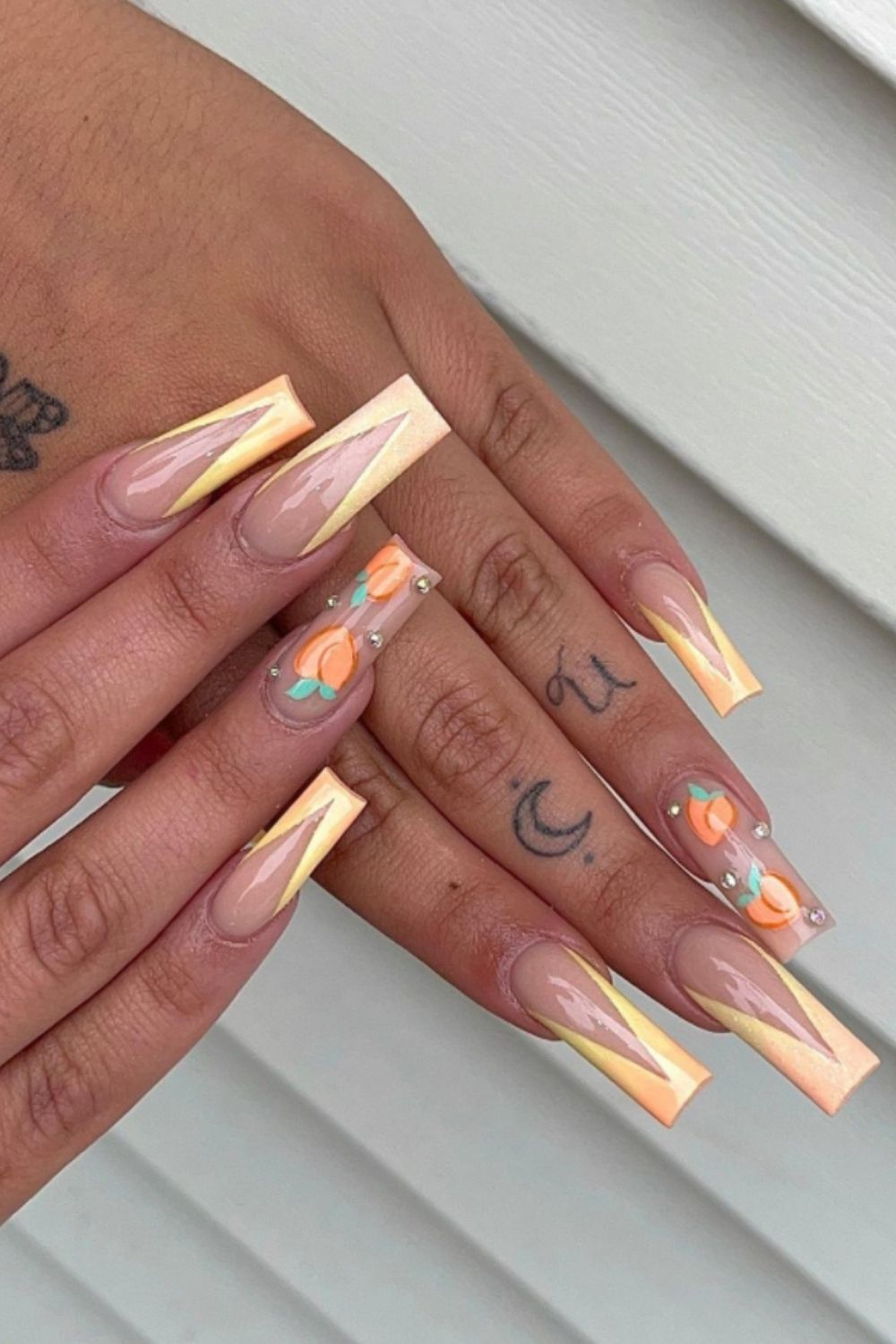 French nails for coffin nail art designs