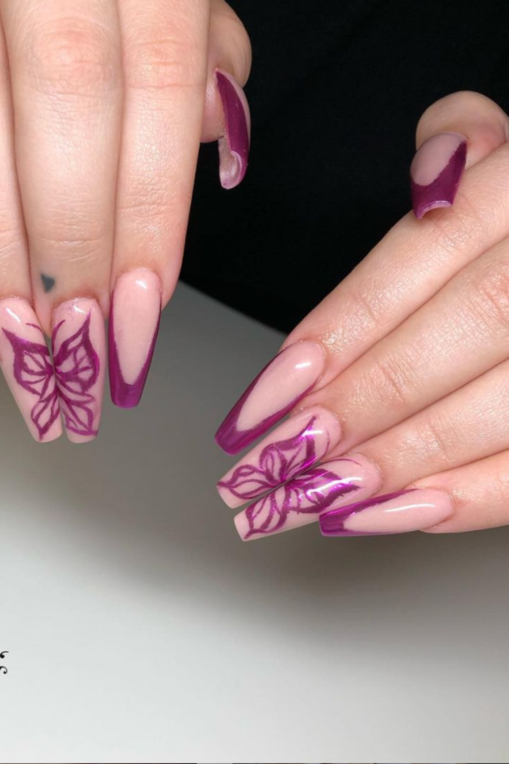 Clear Butterfly Nails