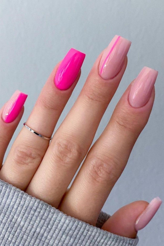 Pink nail weekend nail design coffin nail