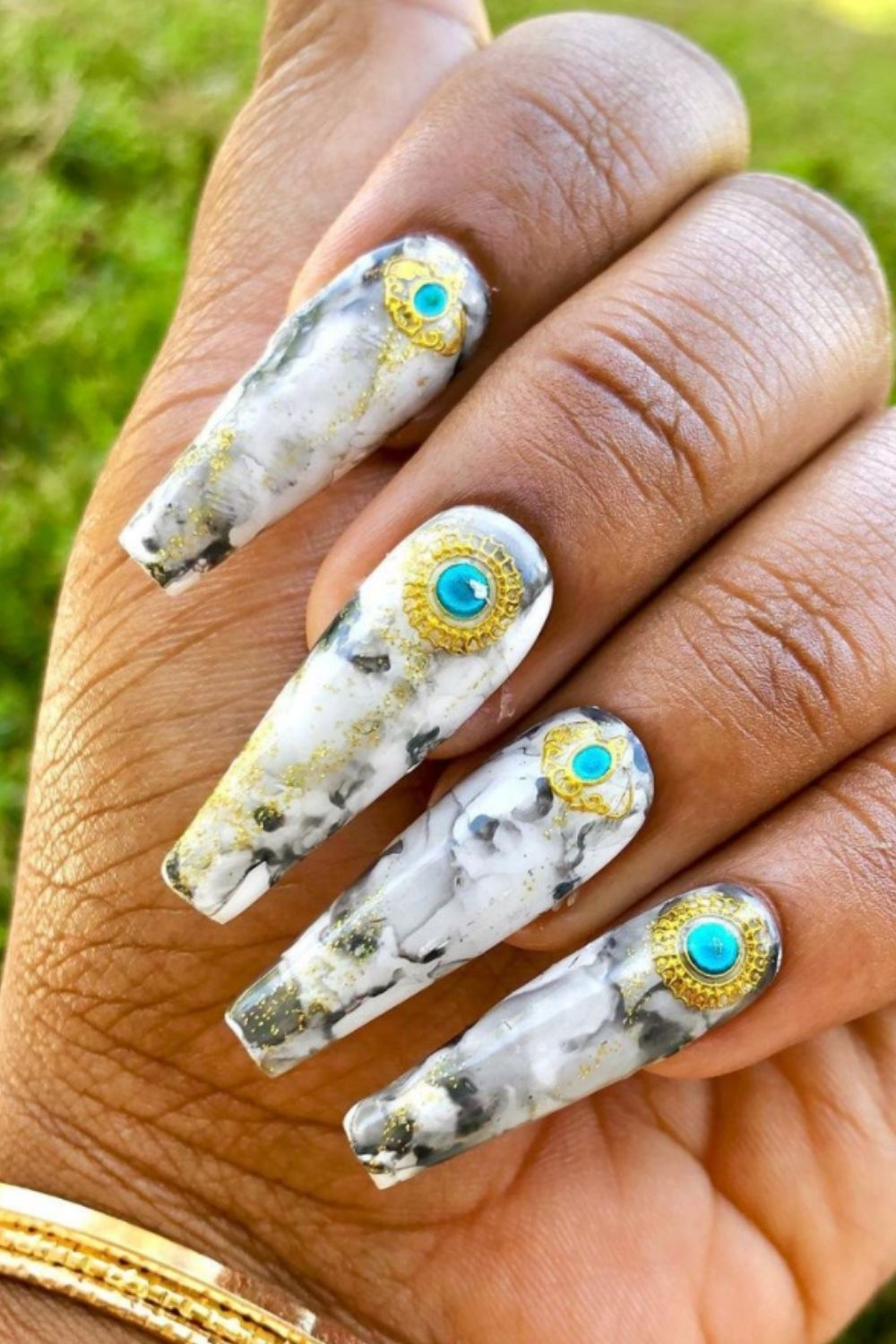 Marble coffin nail