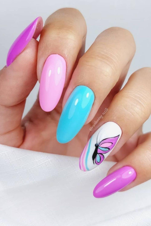 Nail color art