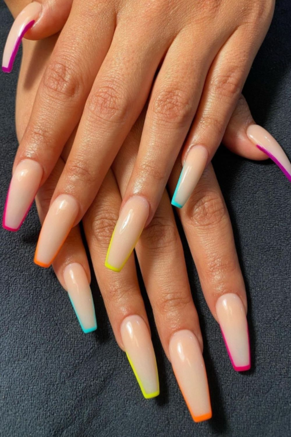 Pastel Pink Natural Manicure With A Twist Coffin Nails