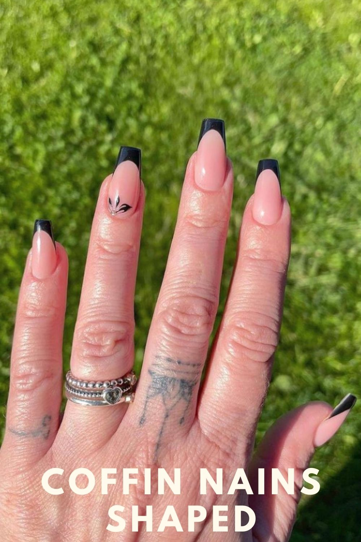 Black tip coffin nails