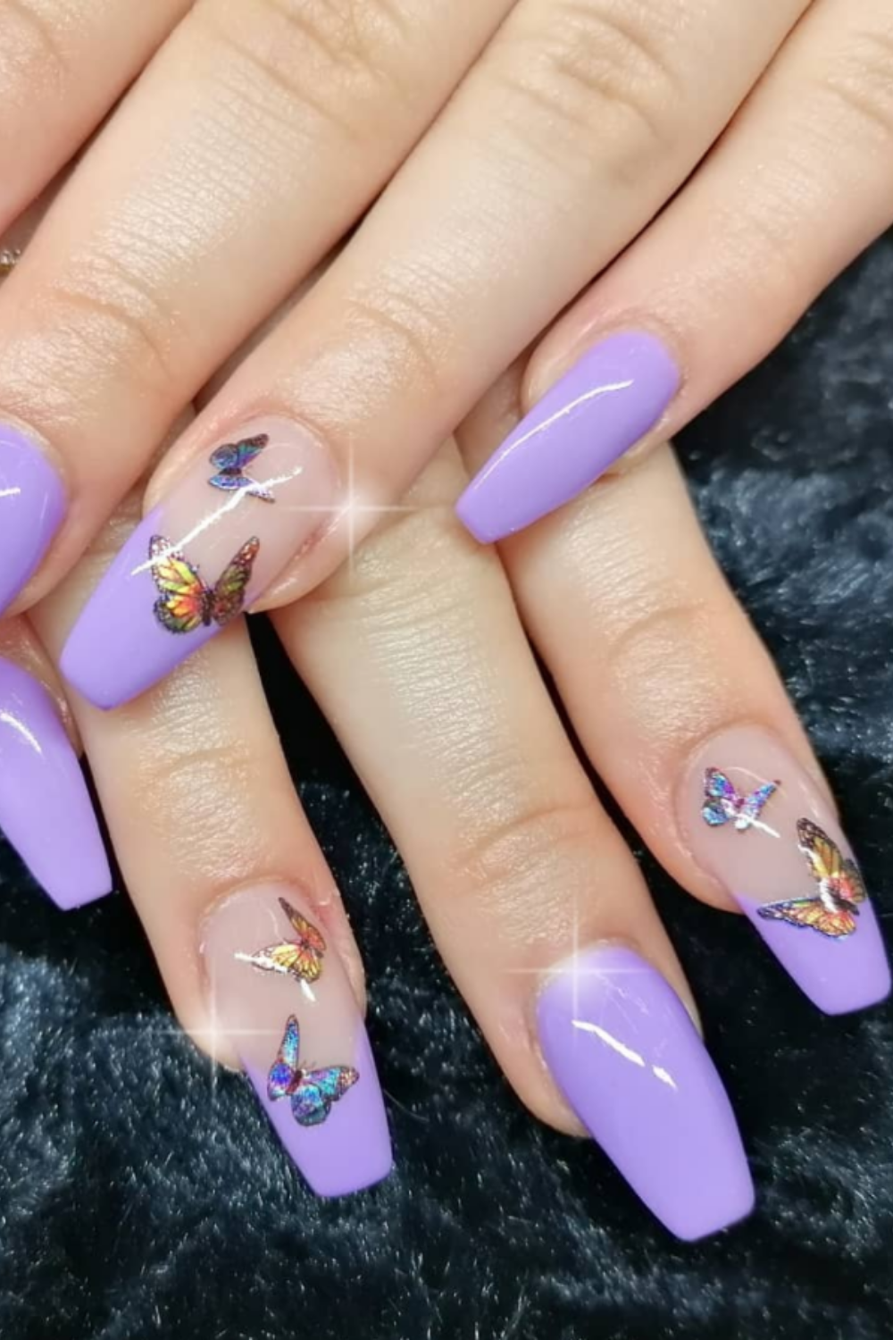 Easy butterfly nails art for spring nails designs