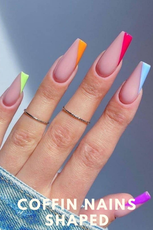 Pride coffin nails designs