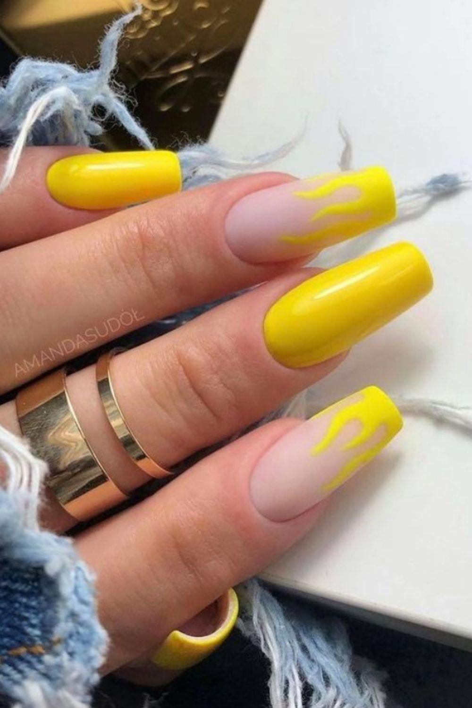 A striking yellow coffin nail