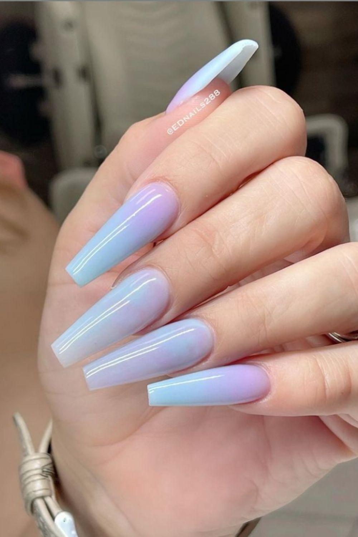 Light blue coffin nail