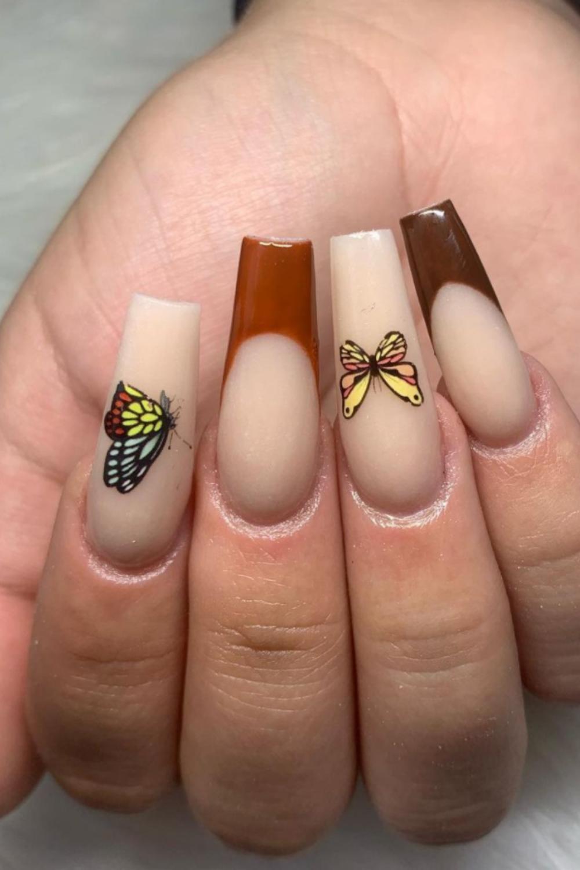 Long coffin nails art