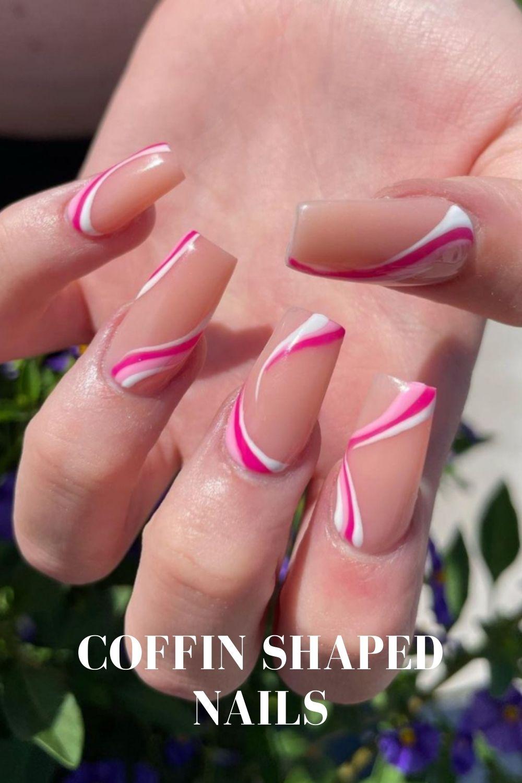 Rainbow coffin nails