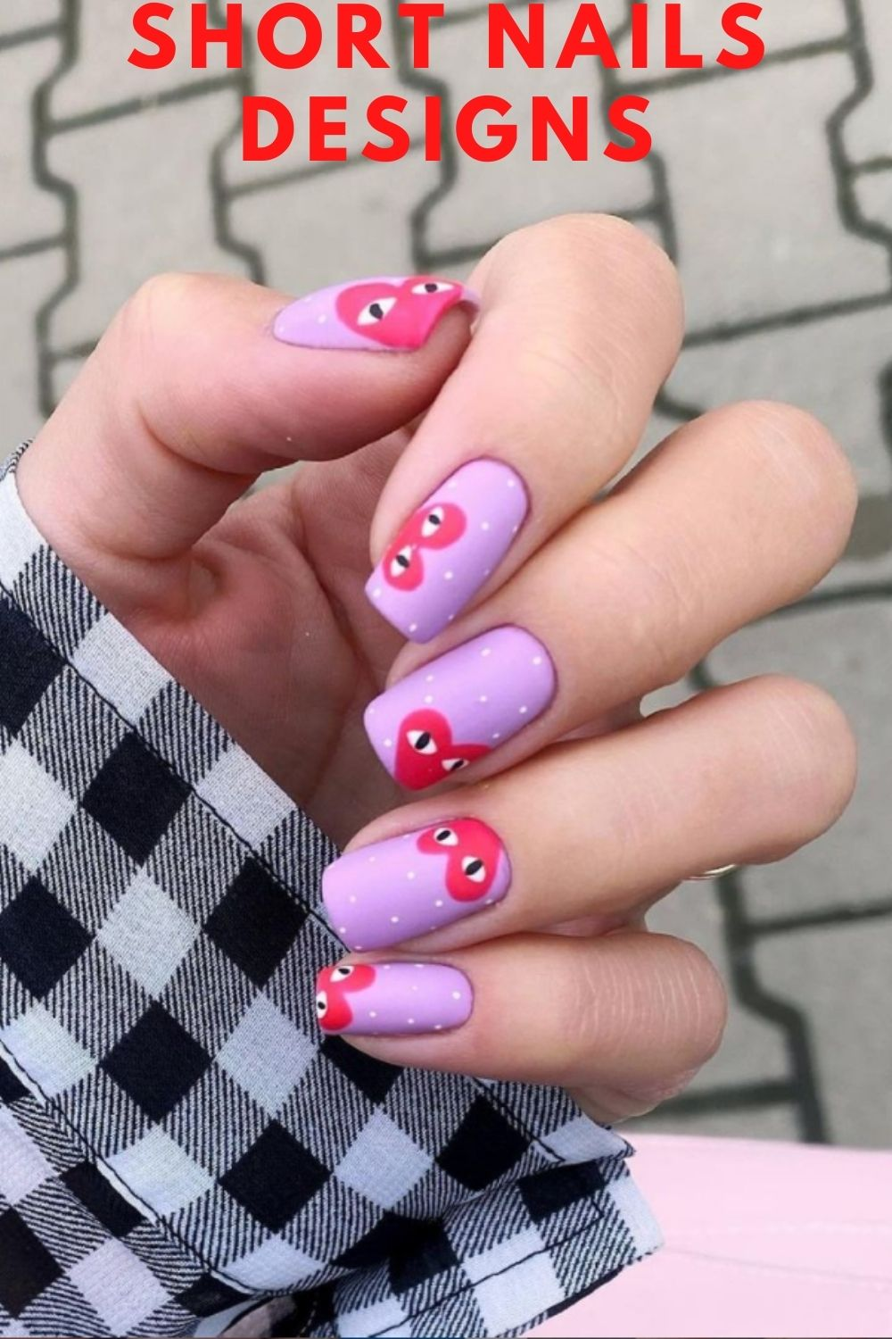 Purple pastel nails for Easter nails design ideas