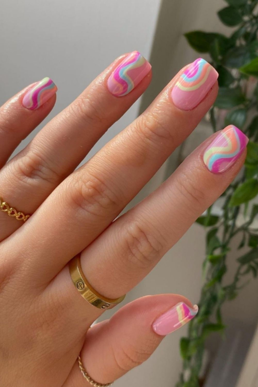 Rainbow nails designs