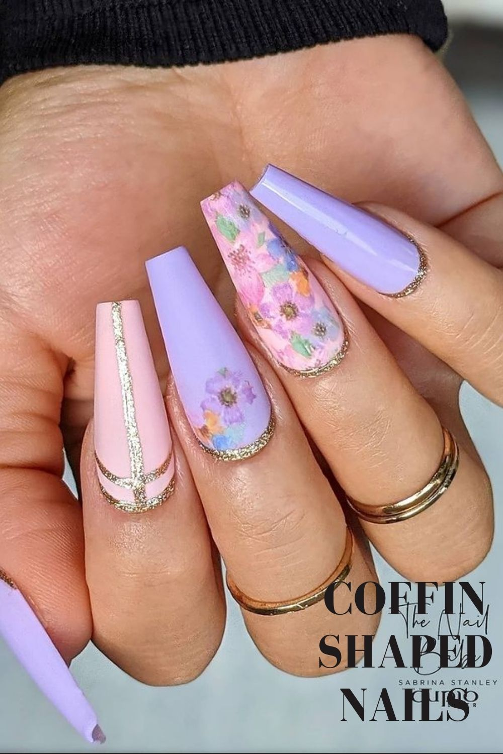 Nails acrylic coffin