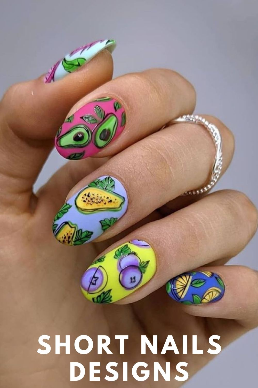 36 Most Beautiful Short Nail Designs for Summer nails 2021