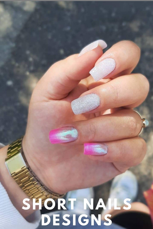 Glitter ombre nails ideas