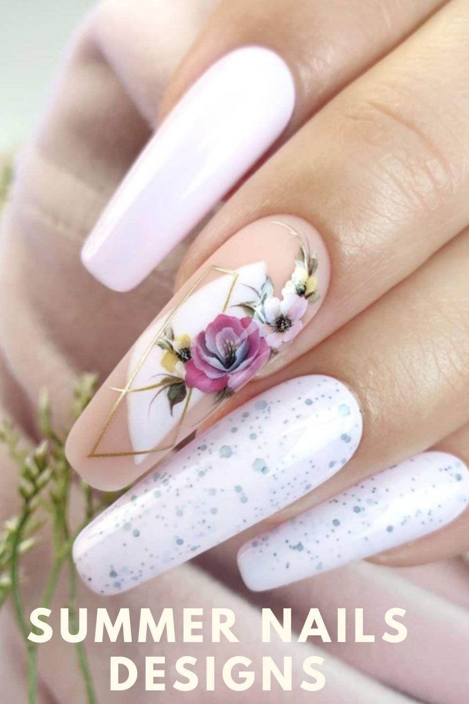 Trendy White almond nails
