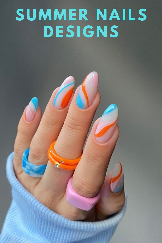 Cute summer nail art design