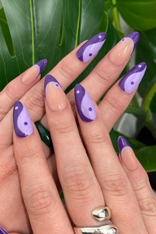 Almond nails art designs
