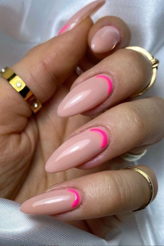 Beautiful almond nails art designs