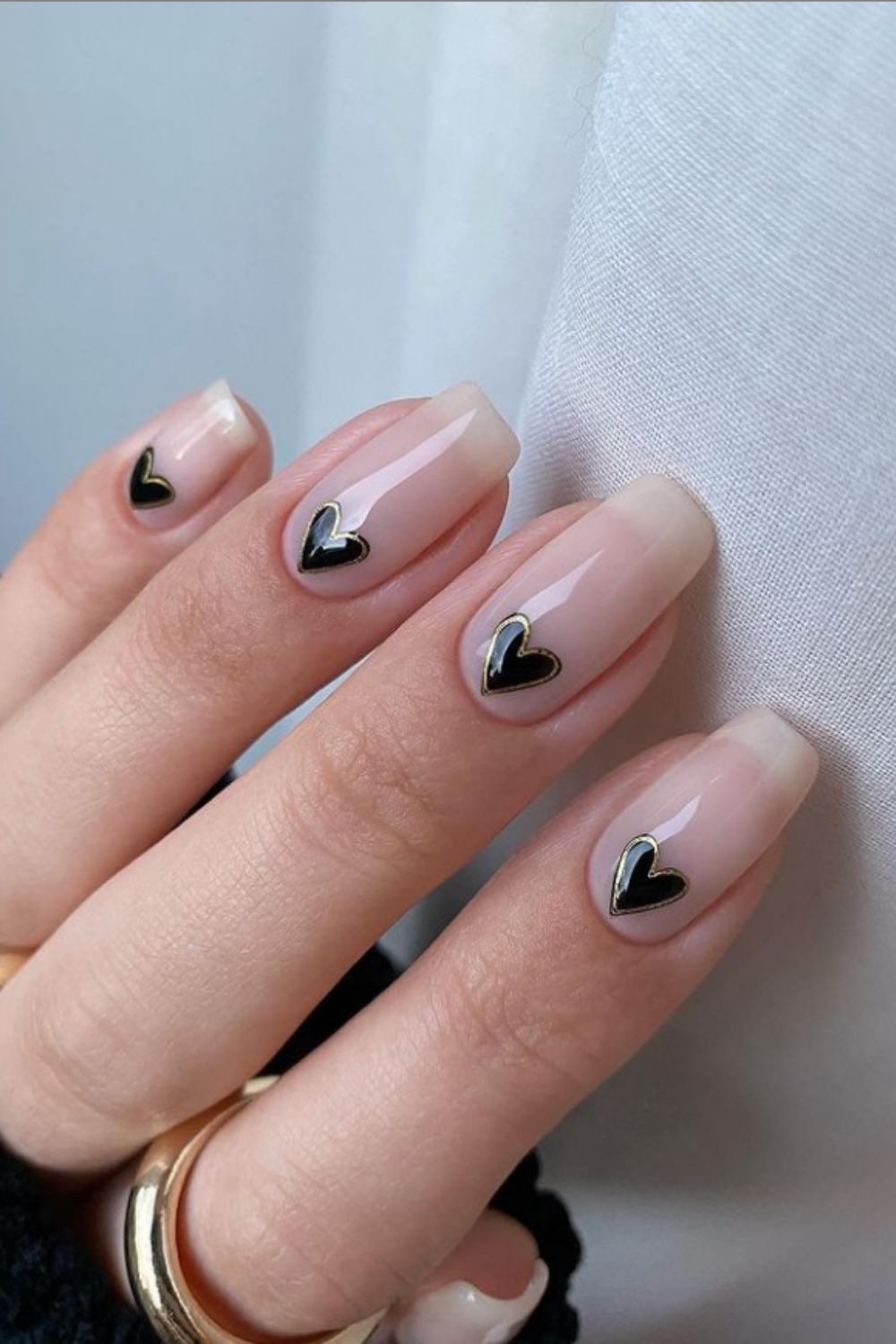 Short Acrylic Nails Art with Coffin Shape for Autumn 2021