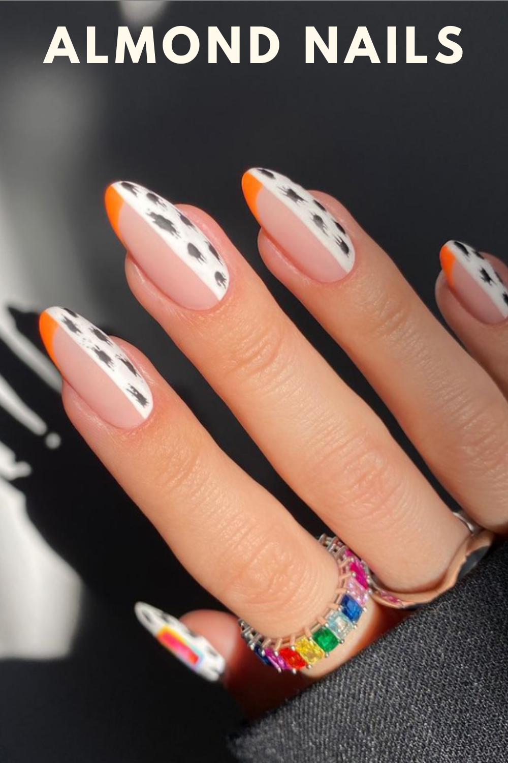 French nails for almond nail art design