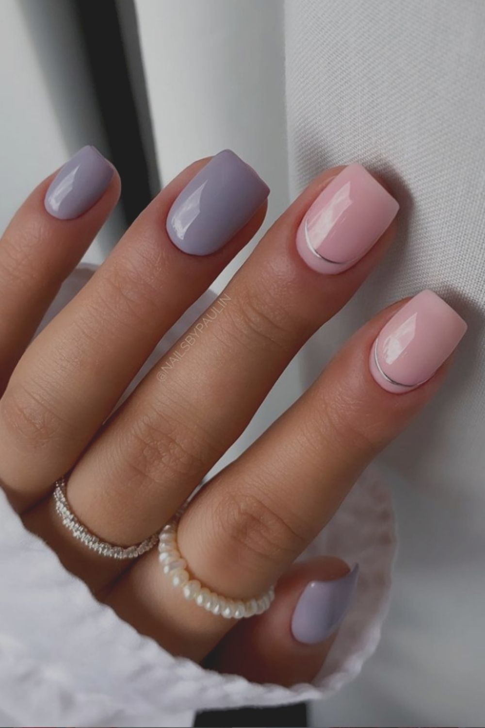 Grey and pink effect