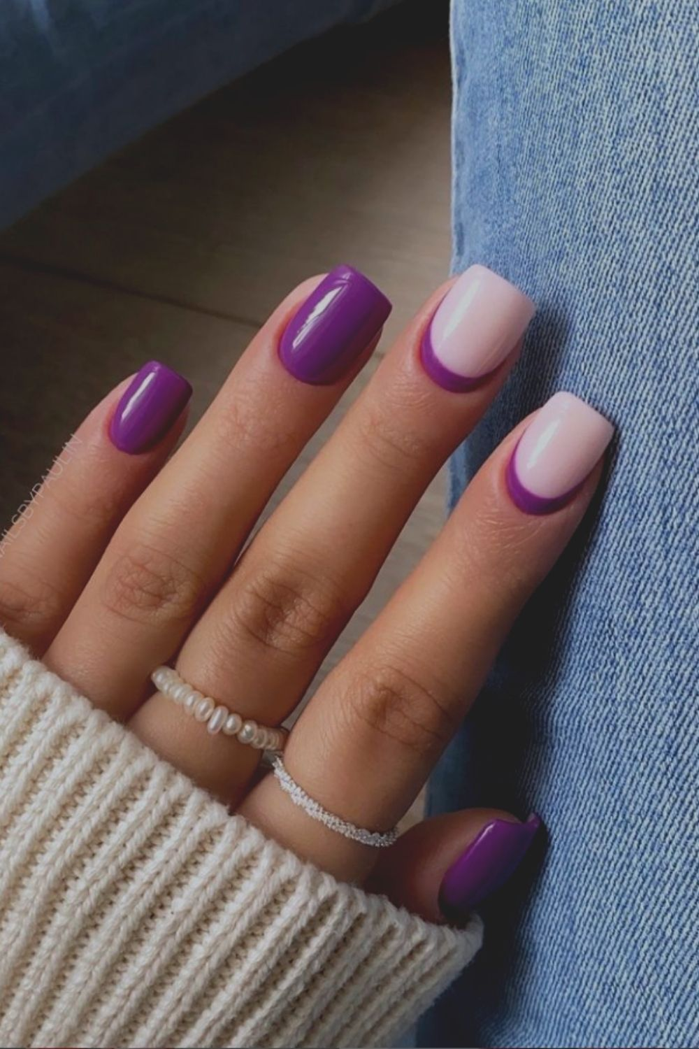Pretty fall nails and pastel nails with square nails shape!