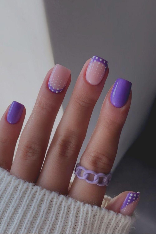 Short Square Gel Nails
